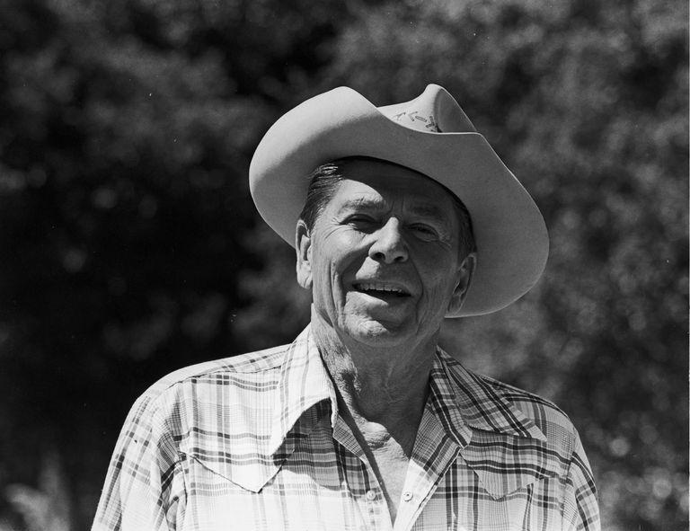 Ronald Reagan in a cowboy hat
