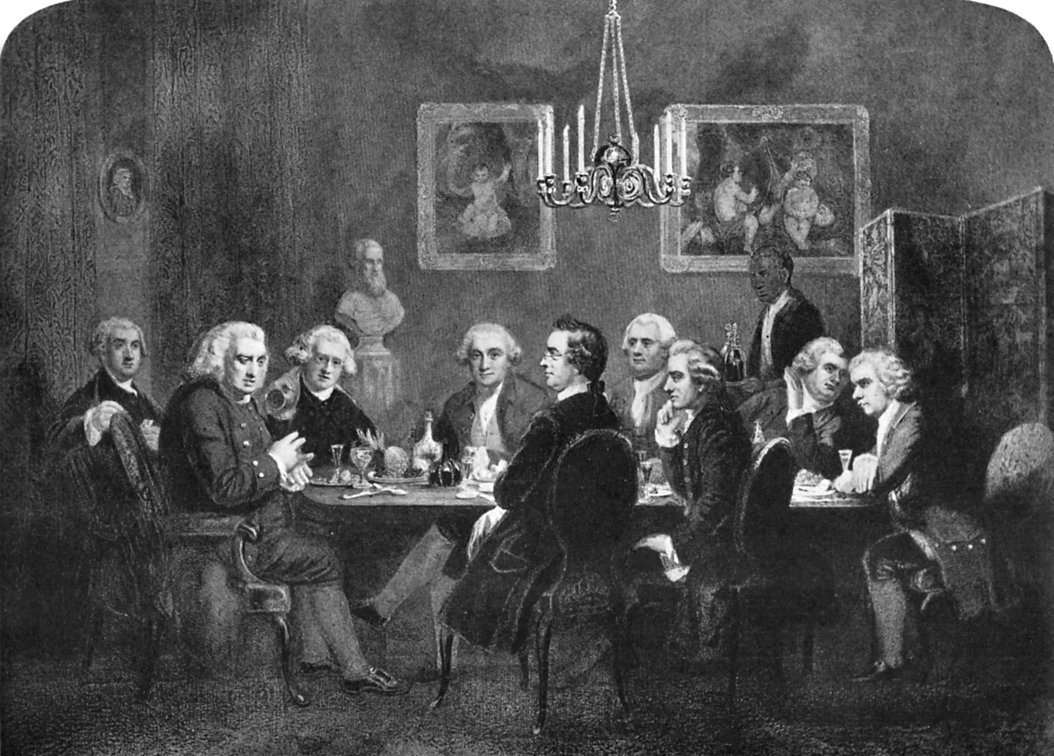 A literary party at Sir Joshua Reynolds