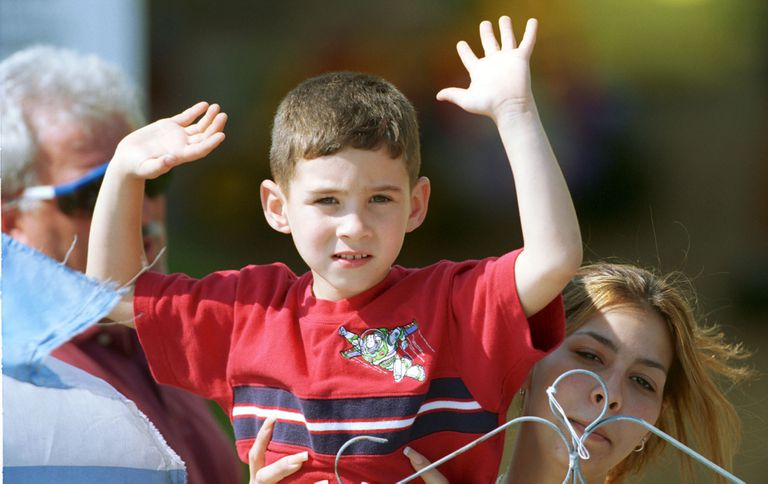 Elian Gonzalez in Miami, 2000