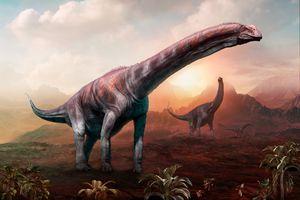 Argentinosaurus dinosaur 3D illustration