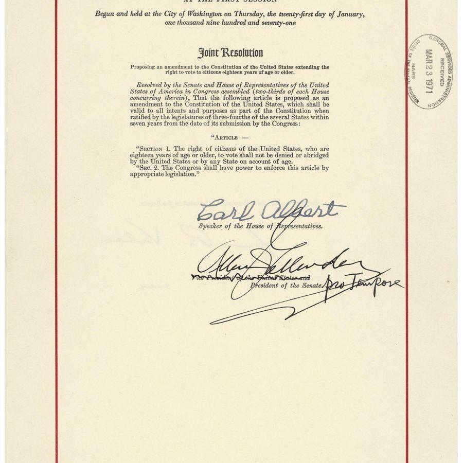 The 26th Amendment