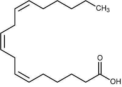This is the chemical structure of gamma-linolenic acid.