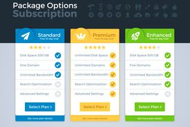 Web host - Pricing Packages Comparison