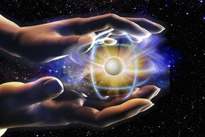 The universe is made up of atoms.