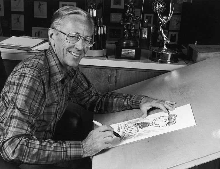 Picture of Charles Schulz, the creater of the Peanuts comic strip.