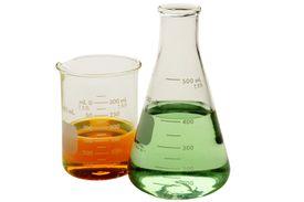 Chemistry beaker and flask