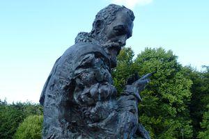 A bronze bust of mathematician John Napier