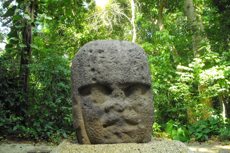 Olmec Head in Villahermosa