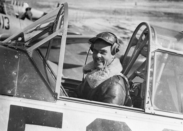 Benjamin O. Davis, Jr. in Cockpit