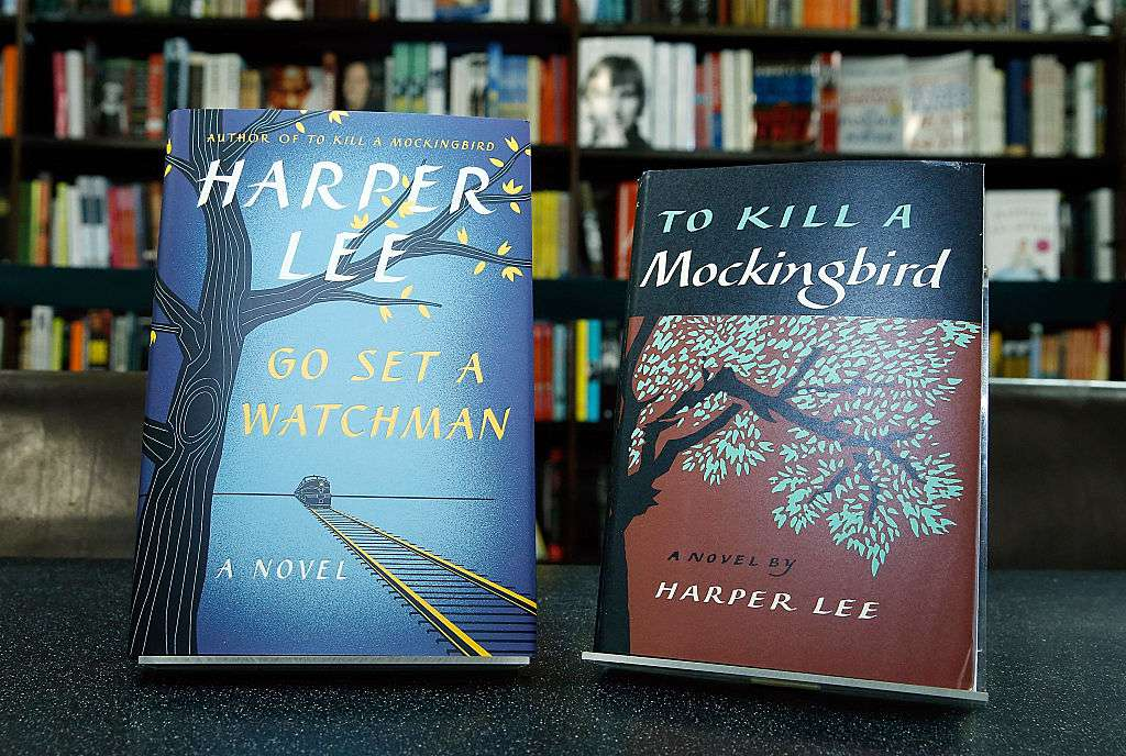 Harper Lee's recently found edition of 'Go Set a Watchman' to be released on July 14 is exhibited along a new edition of ' To Kill a Mockingbird'
