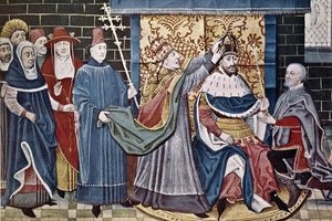 Charlemagne Crowned by Pope Leo III