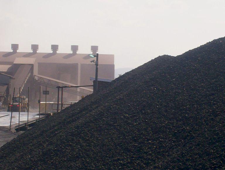 Chromite ore at Hernic Ferrochrome's mine in South Africa.