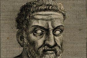Sketch of Thales of Miletus.