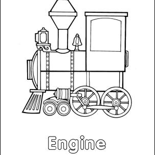 Homeschooling Trains Coloring Book