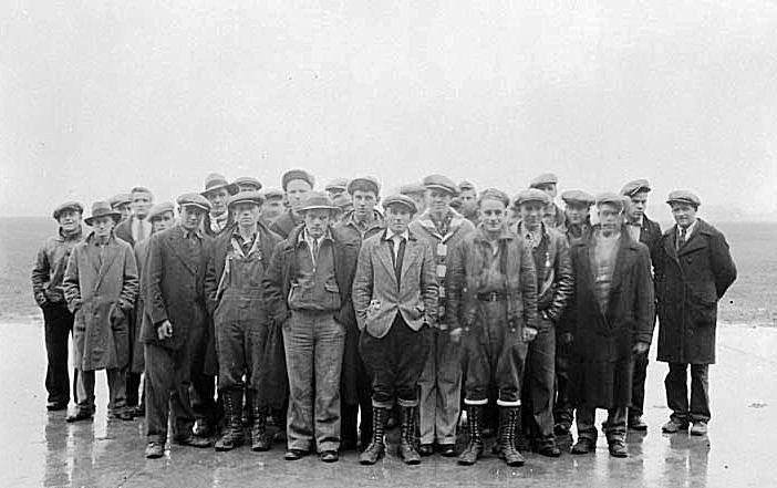 Arrivals at Trenton Unemployment Relief Camp
