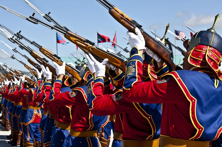 The Mongolian State Honor Guard