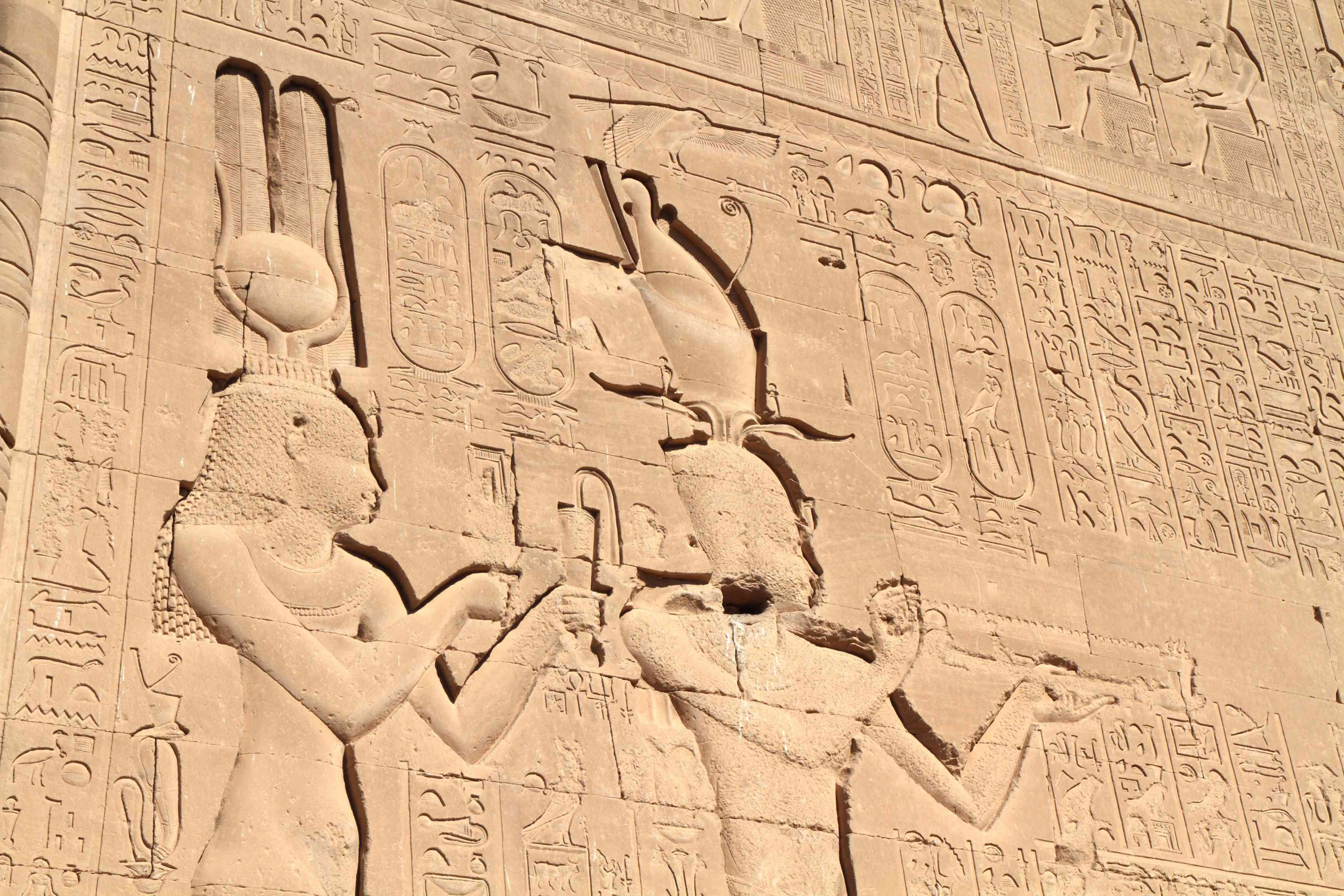 Cleopatra and Caesarian at Dendera