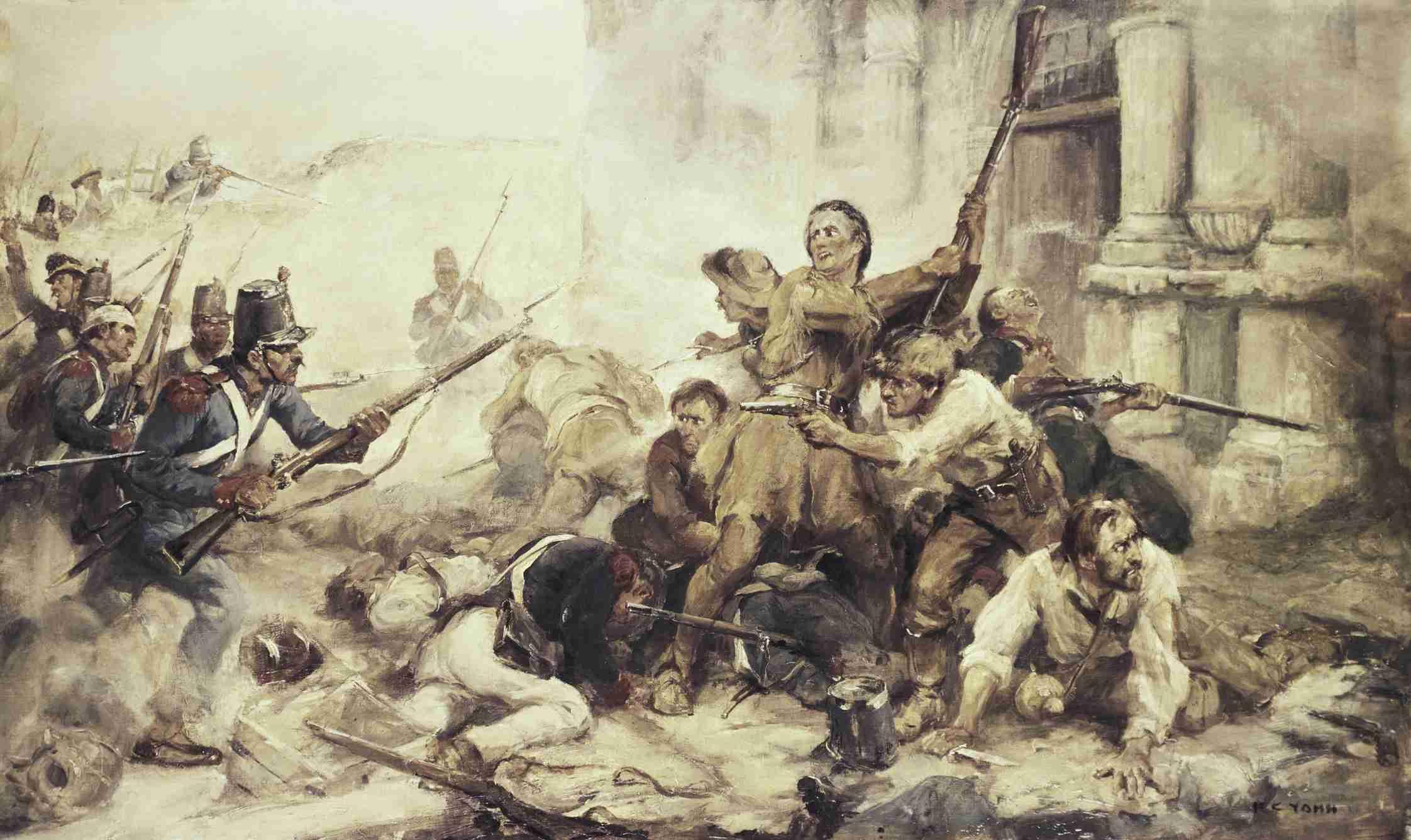 Battle of the Alamo artwork