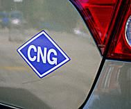 CNG trunk badge