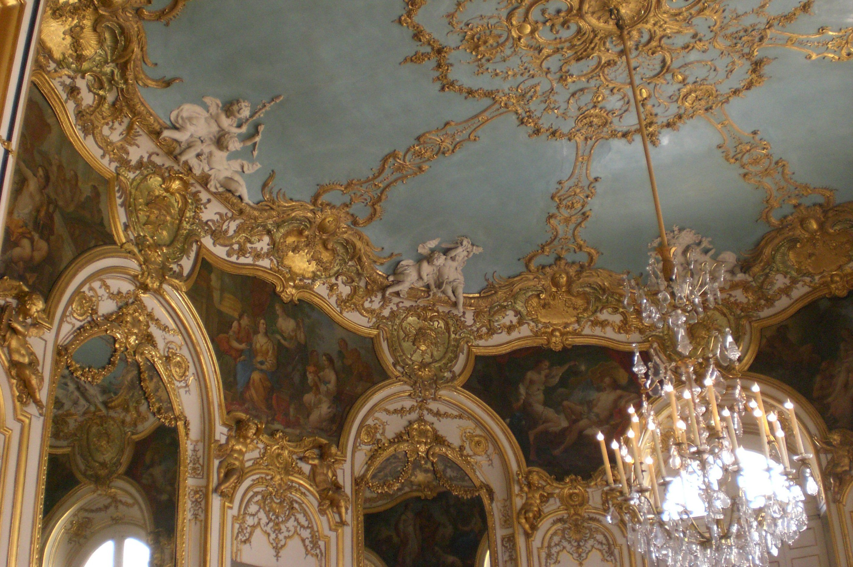 Detail of the Oval Chamber at the Hôtel de Soubise in Paris, France