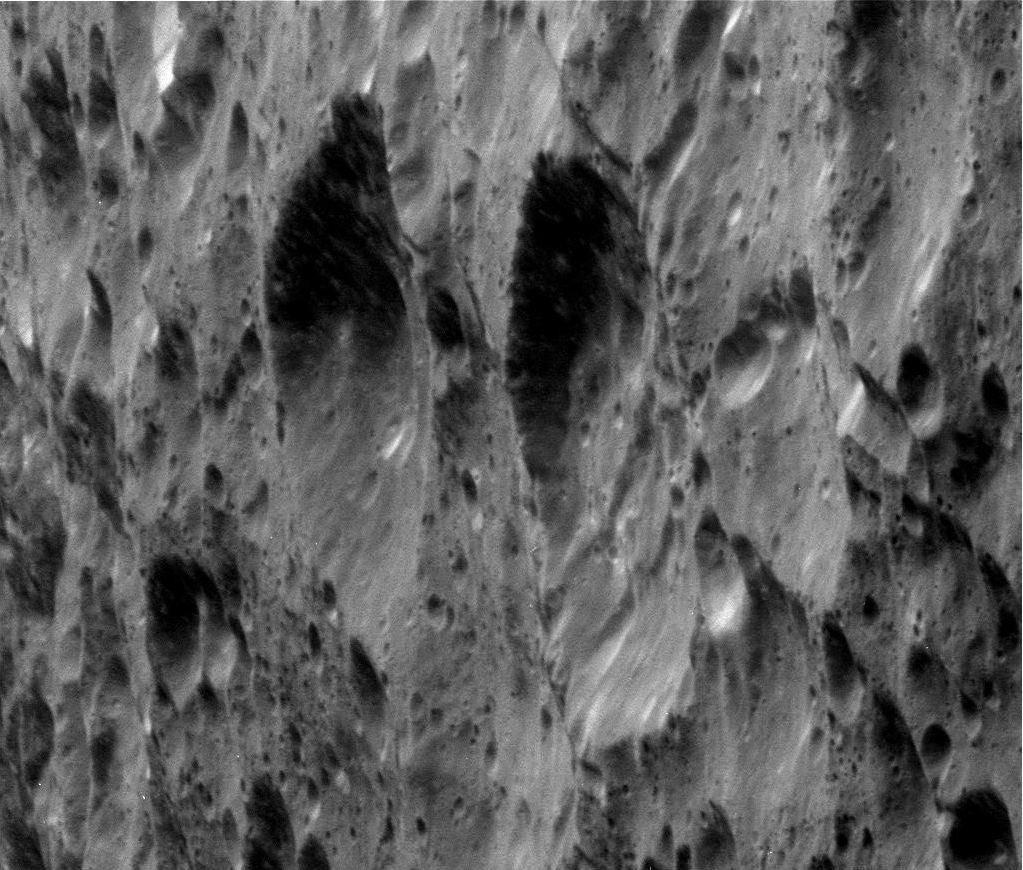 Rhea moon closeup