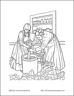 pioneer life coloring page page 2