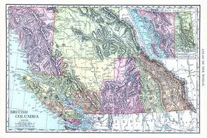 British Columbia, Canada map