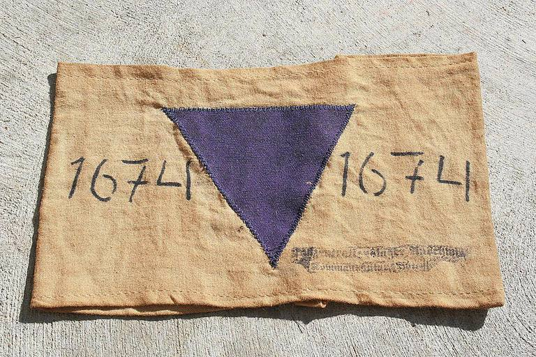 Jehovah's Witness prisoners were identified by purple triangle badges in Nazi concentration camps.
