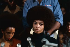 Angela Davis at First News Conference
