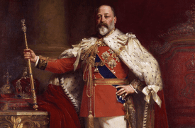 A portrait of King Edward VII from 1902