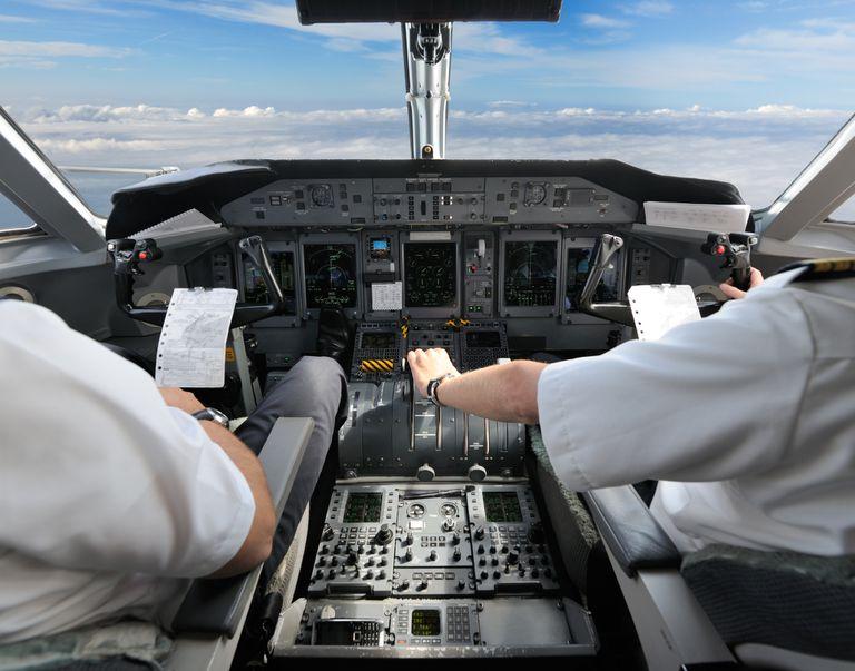 Pilots in the Cockpit - Preparing for Landing