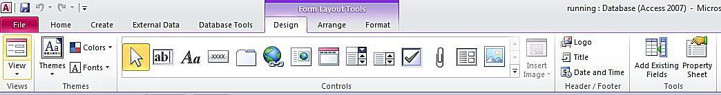 Creating Forms in Microsoft Access 2010