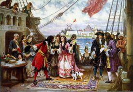 Captain Kidd in New York harbor