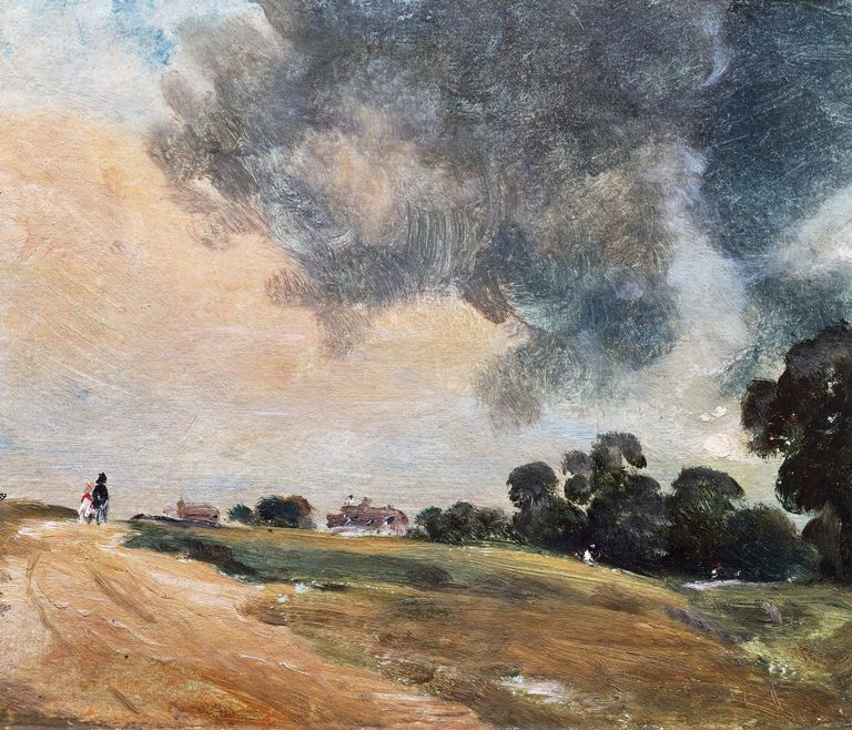 View at Hampstead, looking due East, 1823, by John Constable (1776-1837), oil on paper