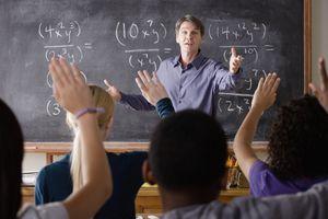 math teacher in front of class
