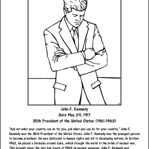 John F. Kennedy Coloring Page