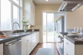Modern, bright, spacious home kitchen