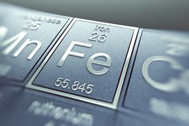 Fe is the symbol for the element iron. It is the abbreviation of the word ferrum.