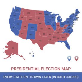 Presidential Election USA Map