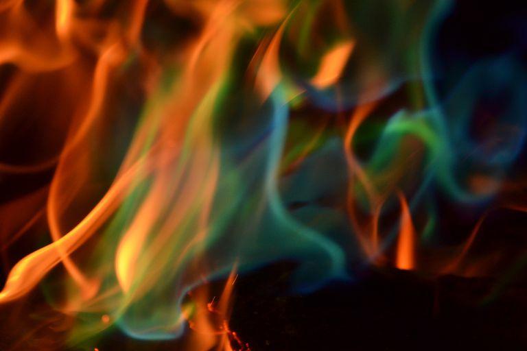 Multi-colored flames