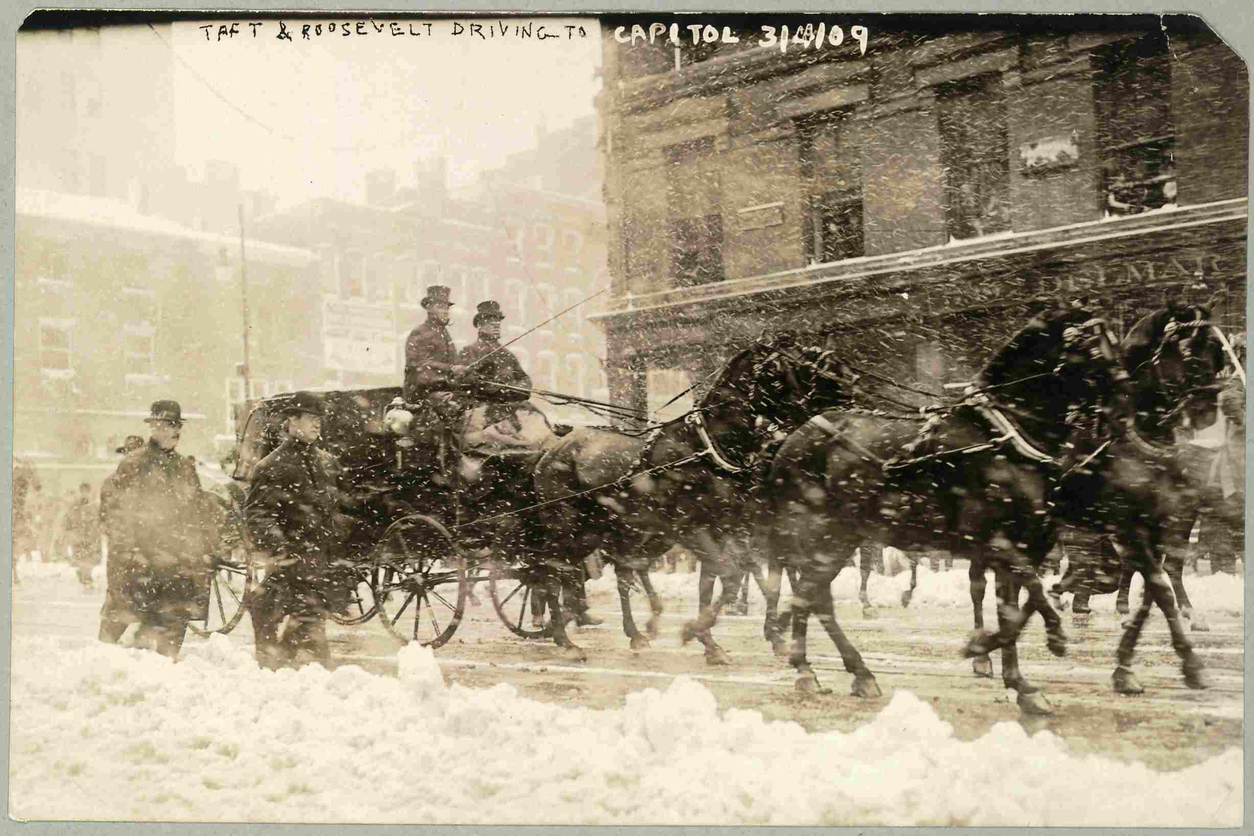 President-elect Taft on his way to his presidential inauguration