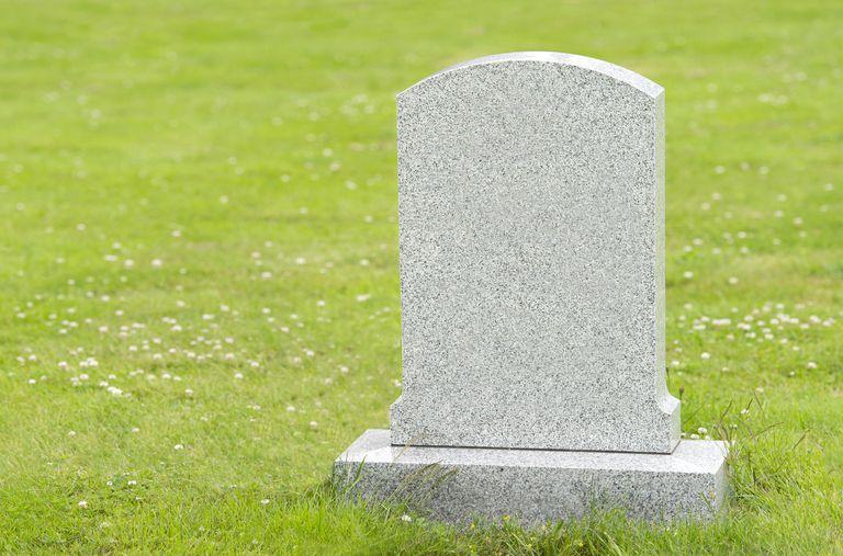 An unmarked gravestone