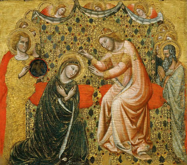 The Coronation of the Virgin, 1340-1344