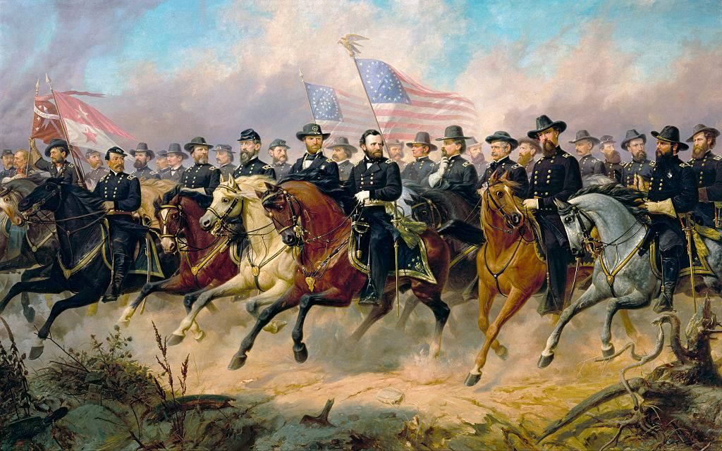 Grant and His Generals by Ole Peter Hansen Balling
