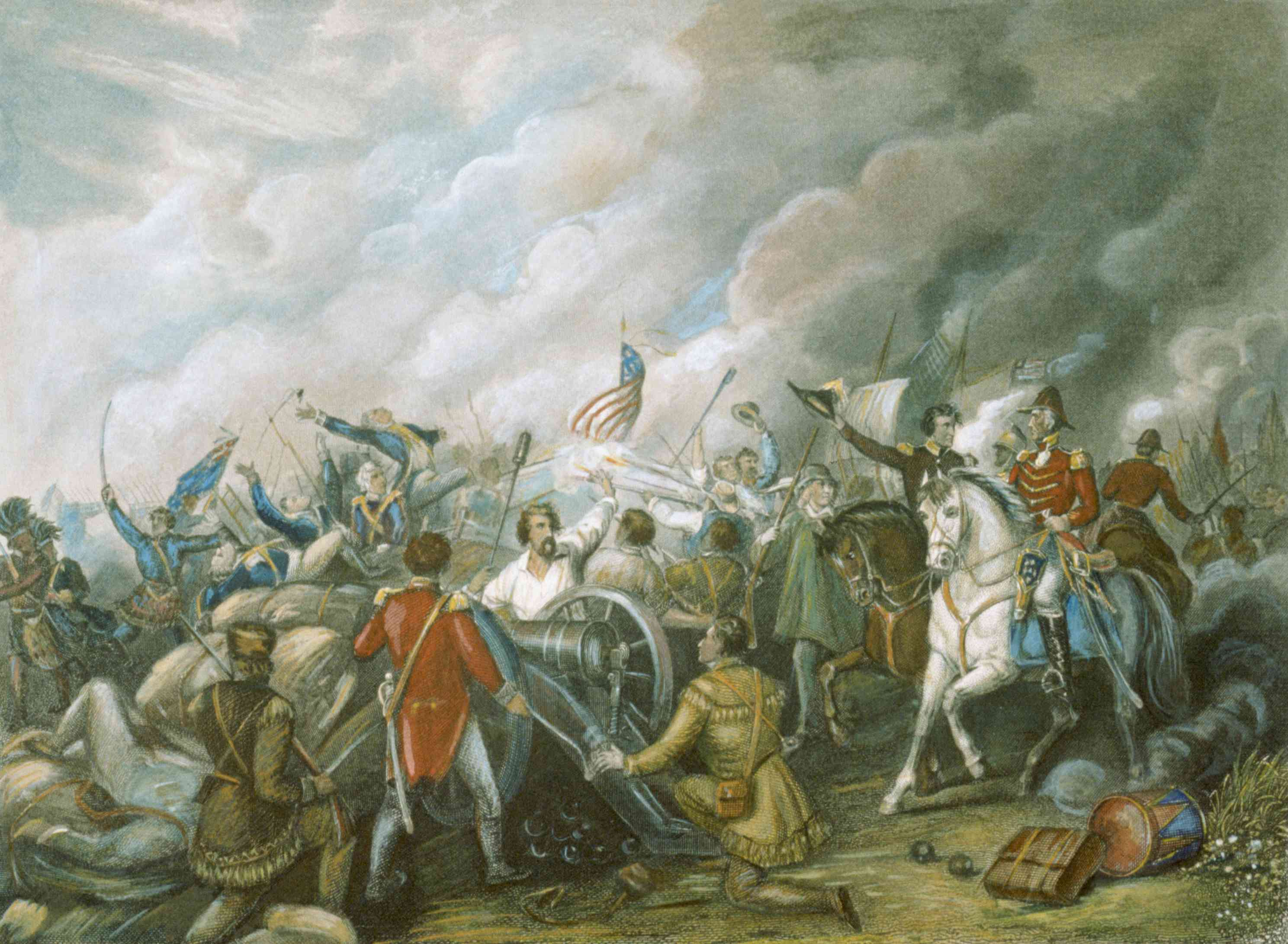 Illustration of the Battle of New Orleans