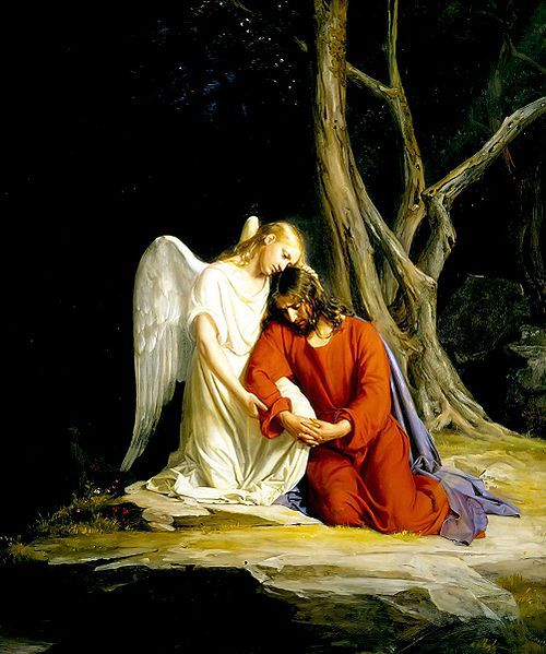 Jesus In The Garden Of Gethsemane Bible Story Angel