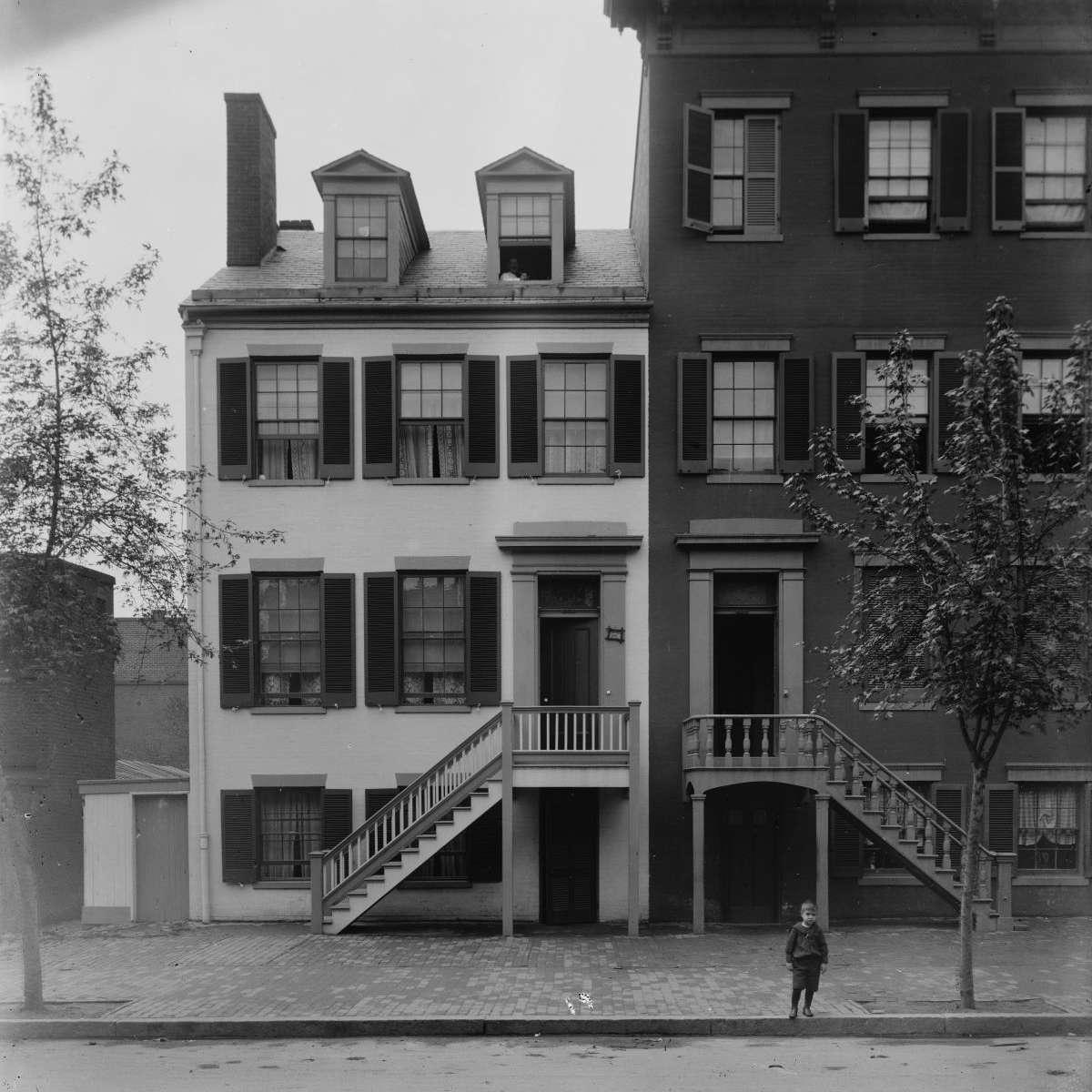 Mrs. Mary Surratt house at 604 H St. N.W. Washington, D.C.