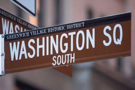 Washington Square sign