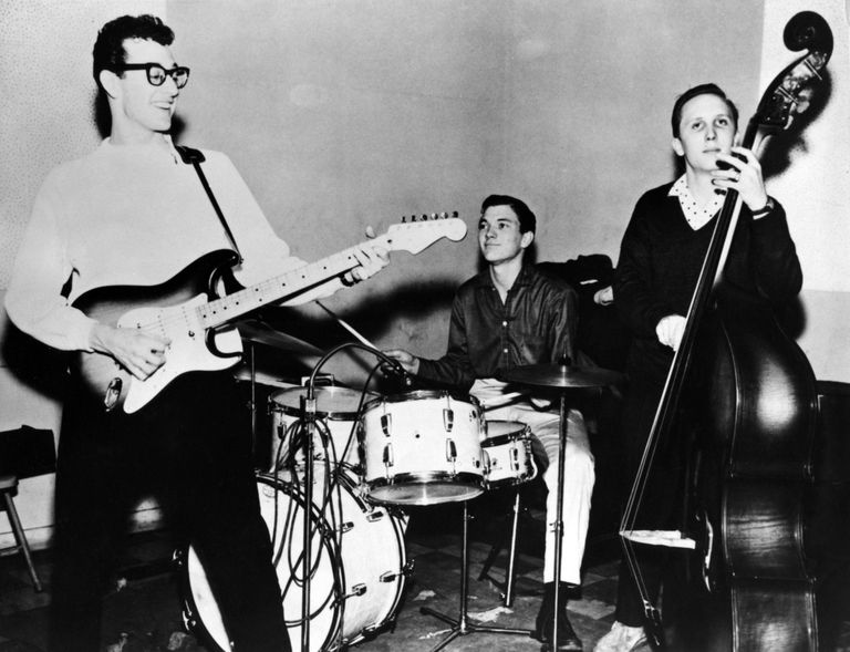 Buddy Holly and the Crickets performing