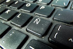 Keyboard showing the Spanish letter Ñ
